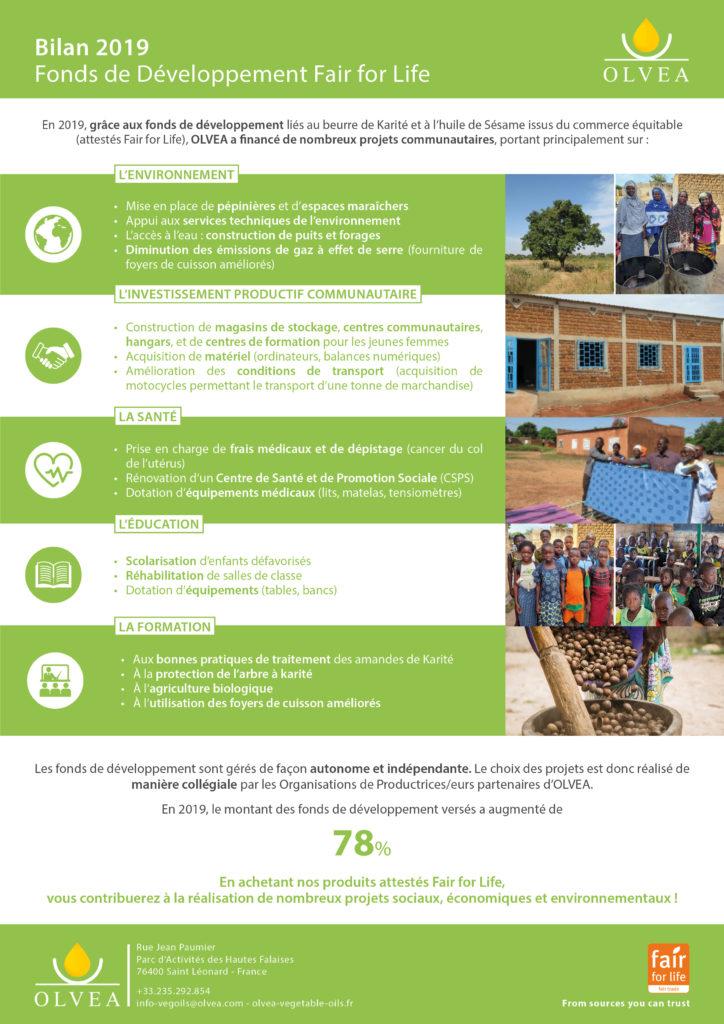 OLVEA Vegetabe Oils - huiles végétales fonds de développement équitable fair for life ecocert développement durable