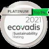 Ecovadis - Platinium - Top Sustainable CSR rating company - 2021